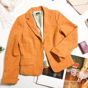 J.Crew Wool Tweed Jacket Orange 8